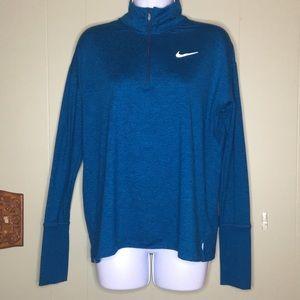 NIke Run Dri-Fit Space/Dye Blue 1/4 zip Jacket  M